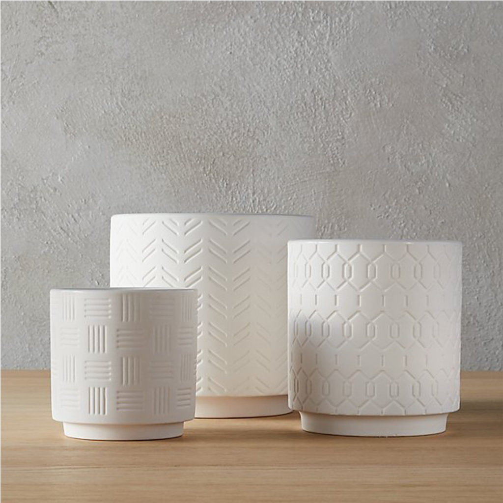 white-ceramic-textured-planters