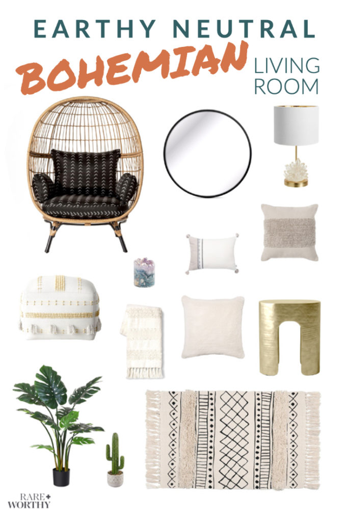 Earthy Boho Living Room Decor