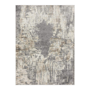 Large neutral abstract pattern area rug for modern farmhouse living room decor ideas - Design Inspiration Curated by Rare and Worthy Co