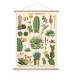vintage cacti botanical wall hanging art print