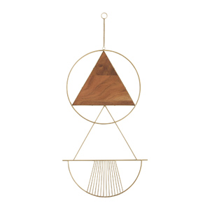 Wood and metal geometric wall hanging for modern farmhouse - Design curated by Rare and Worthy Co