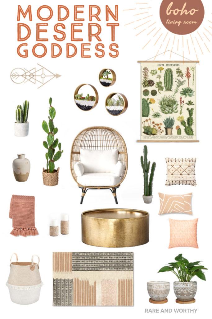 Modern Desert Boho Decor Living Room Ideas