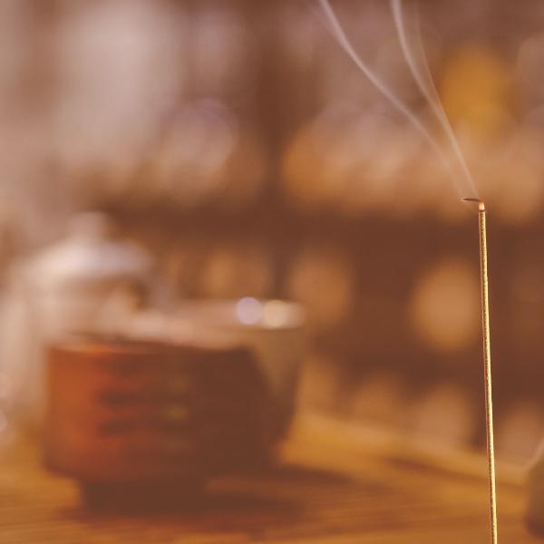 burning stick of incense