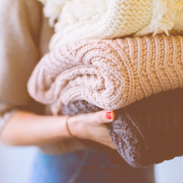 Cozy knit blankets for working at home